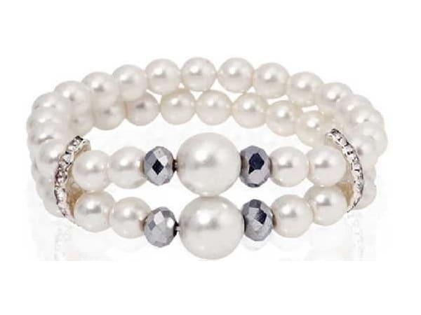 Pulsera perlas white