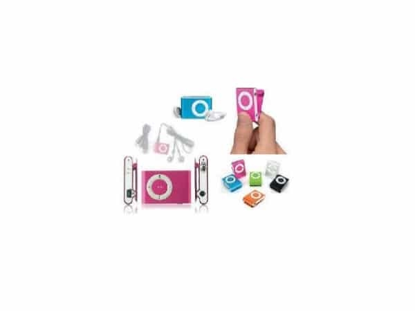 Mp3 player con clip + auriculares +  cable usb