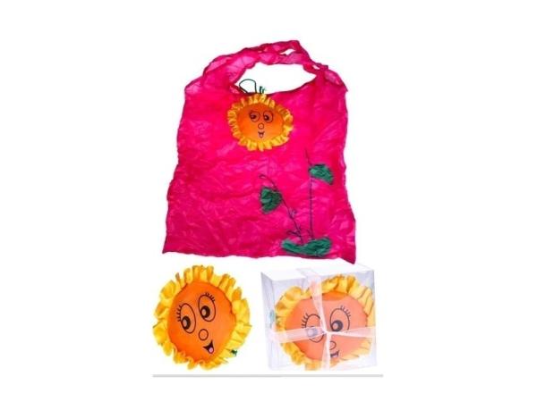 Bolsa plegable girasol con caja y lazo