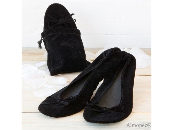Bailarinas enrollables negras TALLA L