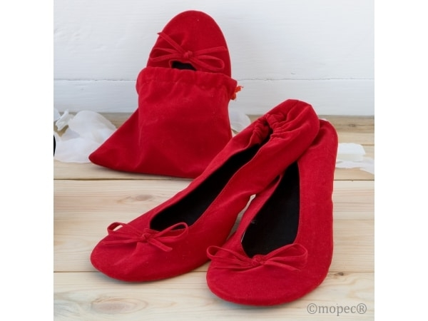 Bailarinas enrollables rojas TALLA L