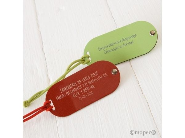 Identificador maletas verde/rojo con caja