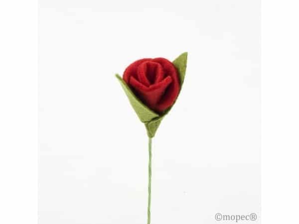Rosa roja fieltro