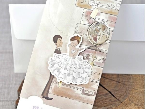 Invitación de boda dulce