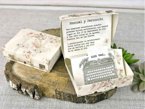 Invitación de boda máquina escribir