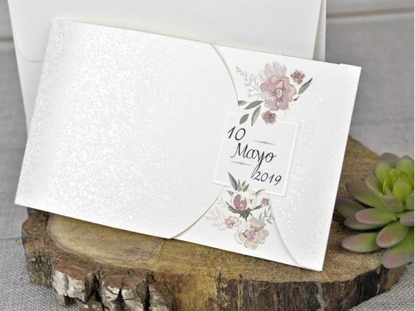 Invitación de boda fina
