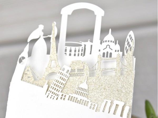 Invitación de boda ciudades