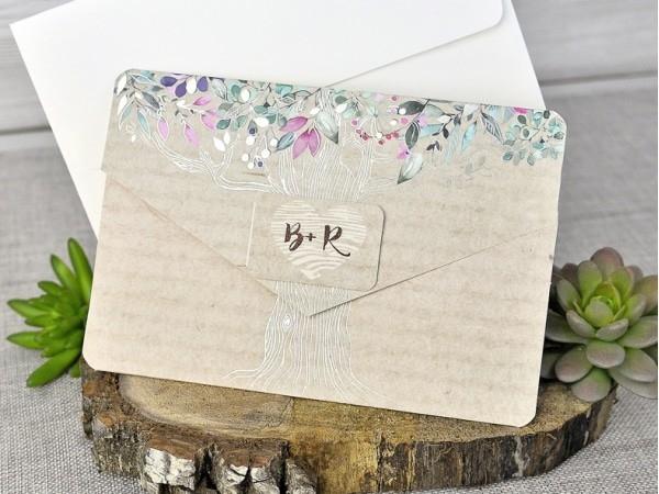 Invitación de boda árbol de la vida