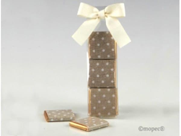 Detalle de boda estuche 3 chocolatinas