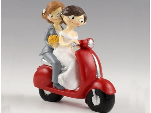 Detalle de boda figura pastel  Girls Pop & Fun