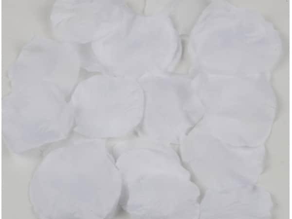 Detalle de boda pétalos de rosa blancos 144 uds.