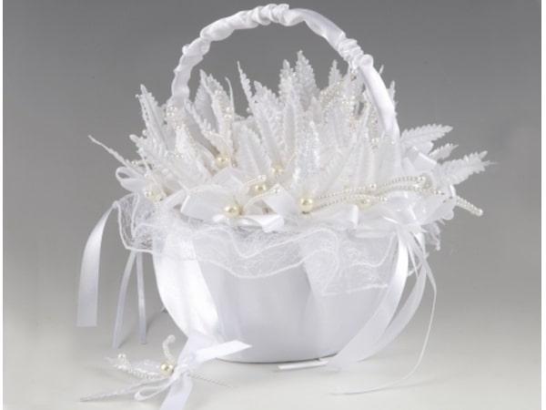 Detalle de boda cestita  + 30 alfileres perlados