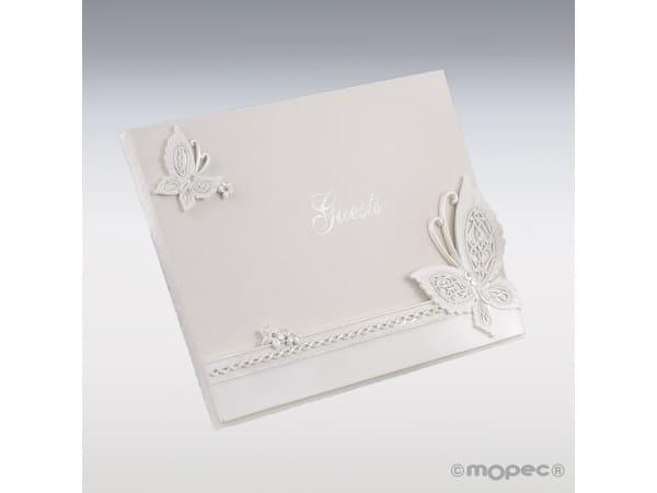 LDetalle de boda libro de firmas mariposa