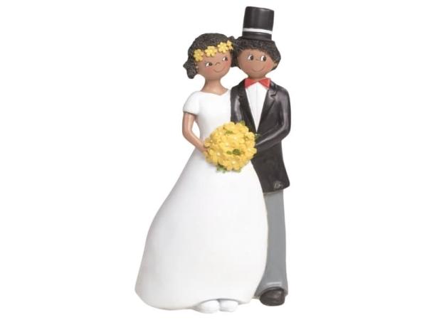 Figura pastel novios con bouquet
