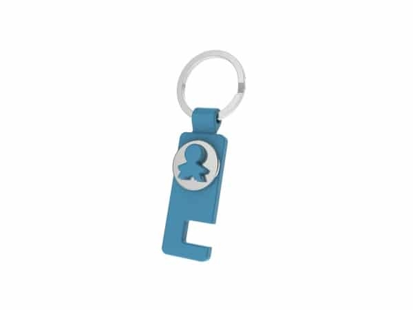 Llavero moneda carrito+soporte móvil en caja regalo