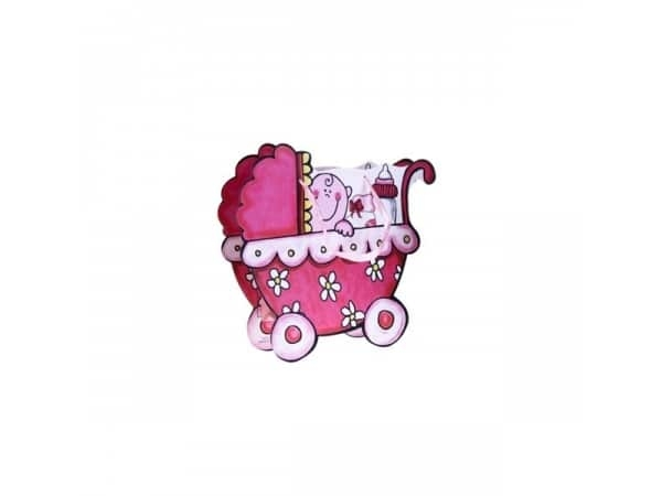 Bolsa regalo cochecito rosa