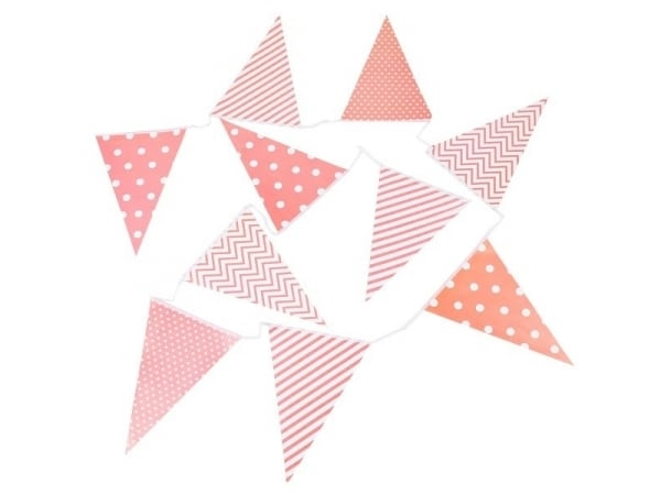 Guirnalda banderas decorativas eventos papel