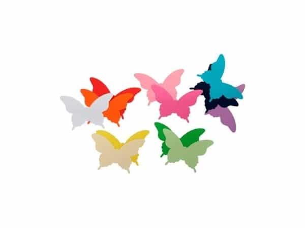 Set 12 mariposas de papel