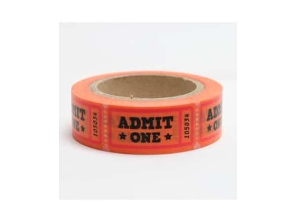 Washi tape ADMIT ONE