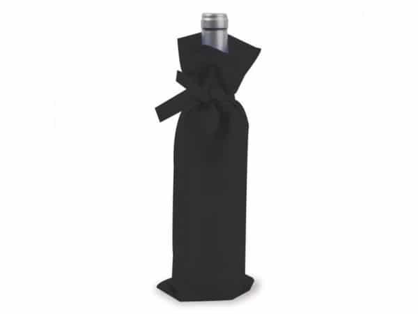 Bolsa negra para botella de vino grande