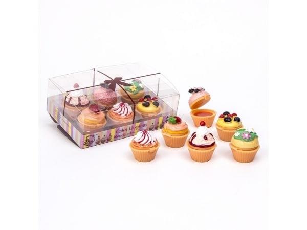 Detalle de boda 6 brillos labiales cupcake en caja