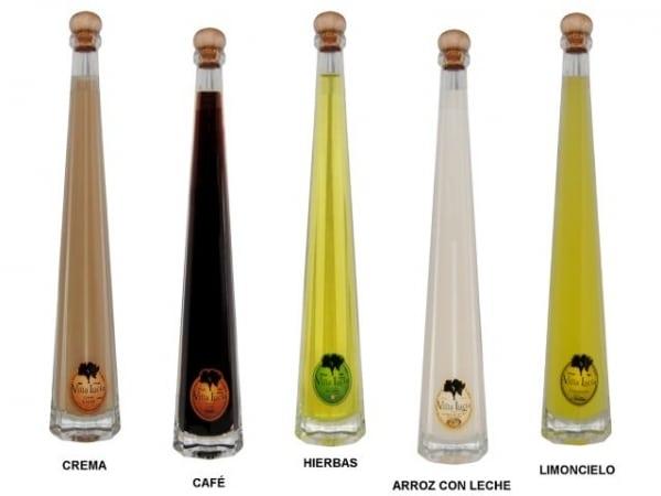 Detalle de boda botella licor Irene Villalucia (29 cm. - 10 cl.)