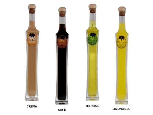 Detalle de boda botella licor Esmeralda Villalucia