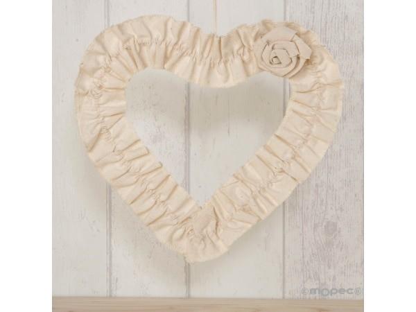Decoración forma corazón 23cm