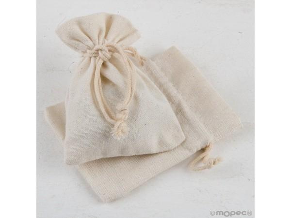 Bolsa algodón marfil 7,5x10 cm.