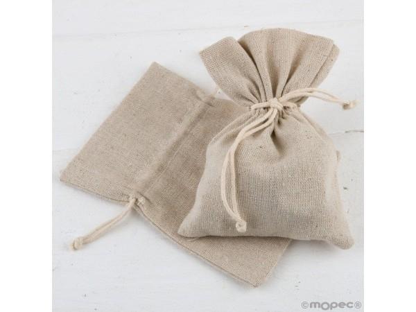 Bolsa algodón beige 10,5x14,5 cm