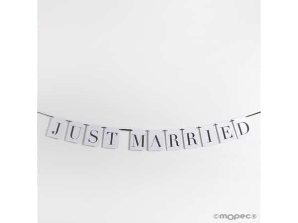 Guirnalda Just married 10,5x14cm, longitud 4 m