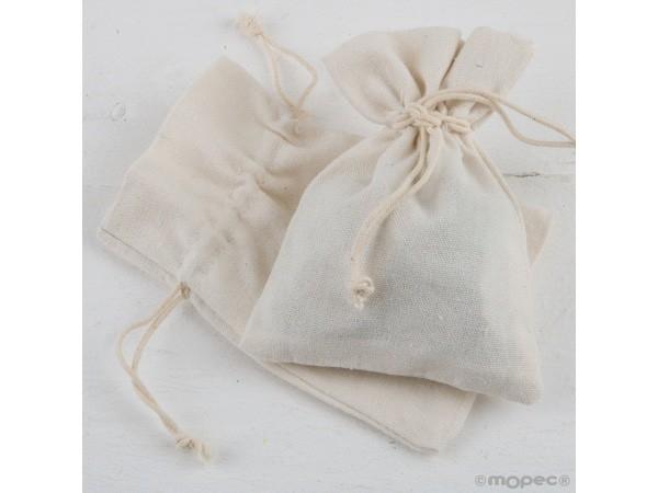 Bolsa algodón marfil 10x14 cm