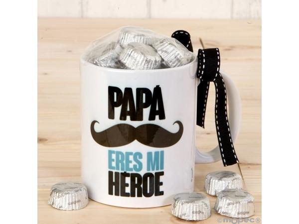 Taza cerámica Papá Héroe en caja regalo