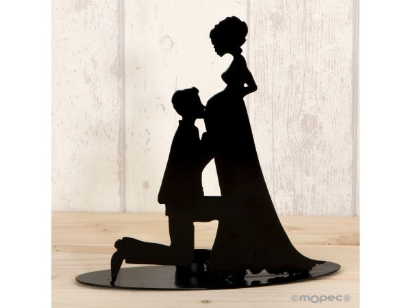 Figura/portavela pastel, novia embarazada 19 cm