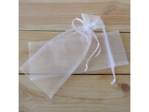 Bolsa cristal blanca 8x20cm
