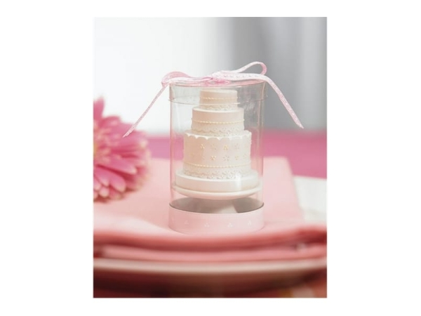 Detalle de boda vela en forma de tarta