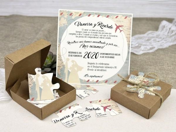 Invitación de boda puzzle *ATENCIÓN: LEER DESCRIPCIÓN ABAJO*