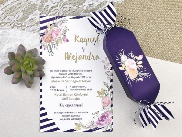 Invitación de boda caramelo