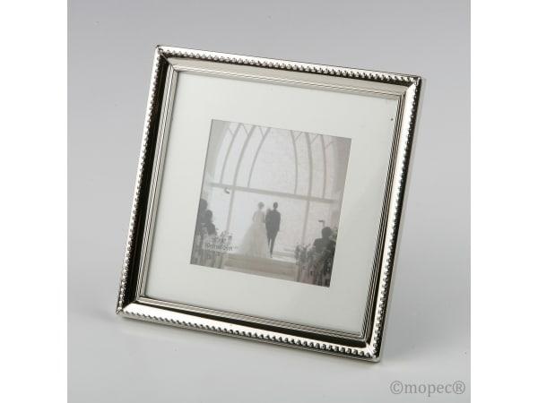 Marco fotos metálico cuadrado 17x17 con y sin paspartú