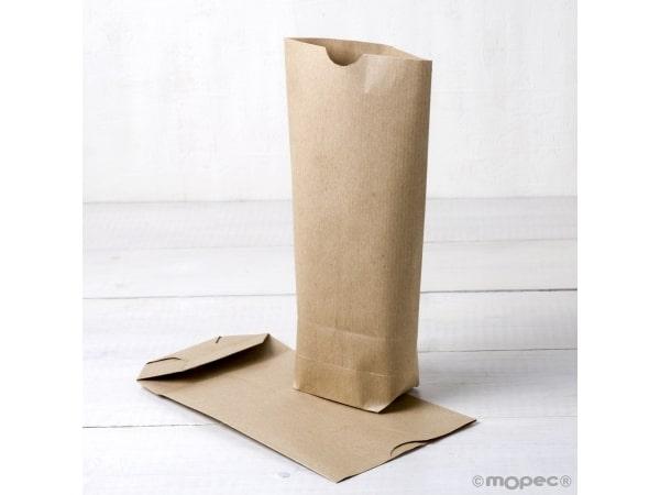 Pack 50 bolsas papel kraft 12x22cm