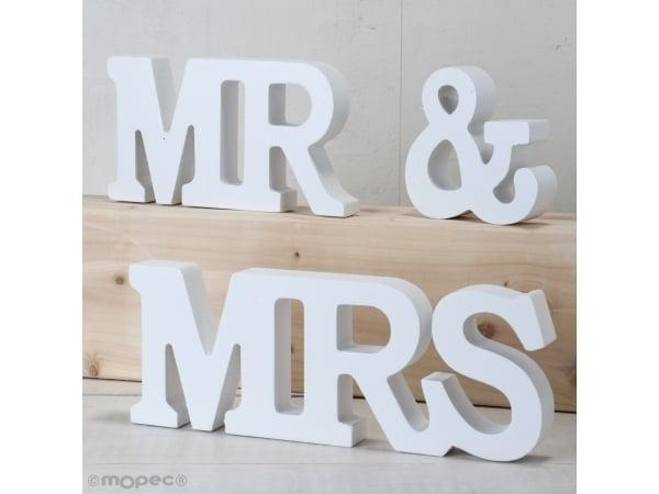 Set madera MR &MRS 3 piezas blanco