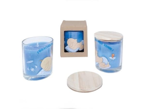 Vela aromática bebé azul