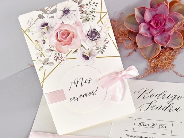 Invitacion de boda flowers