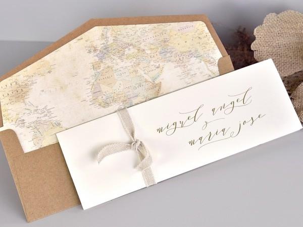 Invitacion de boda forro travel