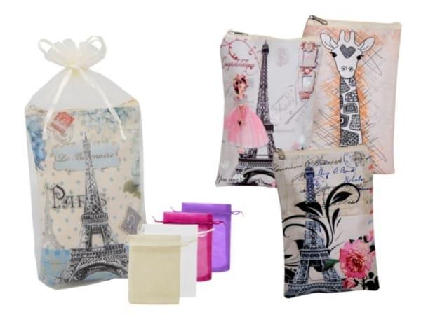Bolso multiusos con cremallera dibujos+bolsa tul