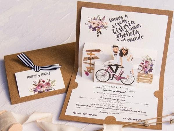 invitacion boda 3d
