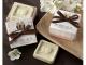 Detalle de boda jabón aromático buhos en caja