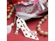 Detalle de boda punto de libro zapato en caja