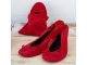 Bailarinas enrollables rojas TALLA M