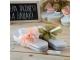 Detalle de boda flip flop blancas lazo salmón/verde TALLA M